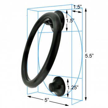 spec-<PRE>Smooth Circle Door Knocker Brass Oil Rubbed Bronze 5 Inch </PRE>