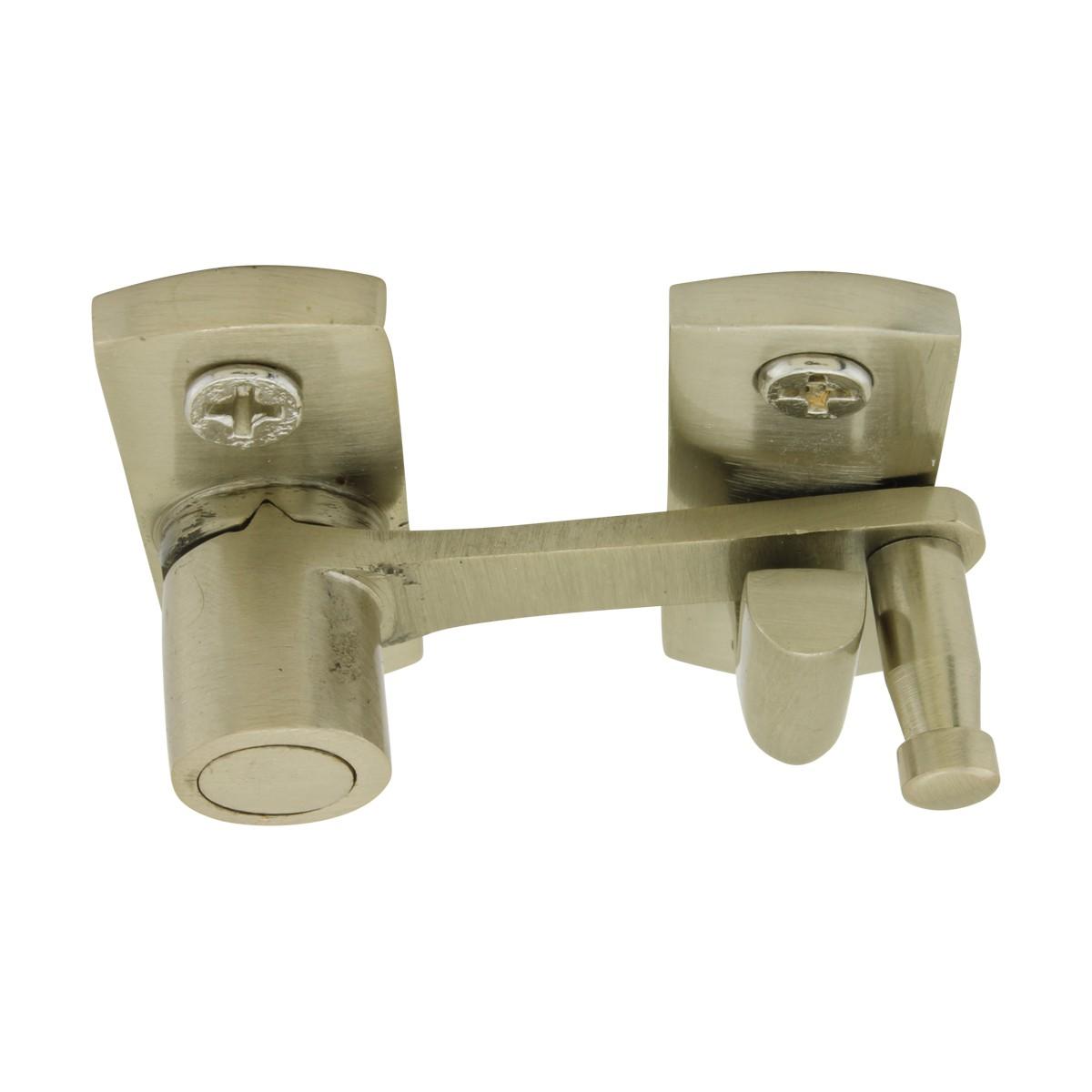 Cabinet Cupboard Pantry Flush Mount Satin Nickel Modern Unique Decorative Rust Proof Latch Catch Lock Security