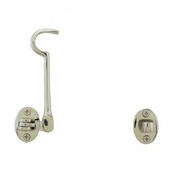 Renovators Supply Cabin Eye Hook Lock Polished Nickel 4 Length Cabin Hook Nickel Cabin Hook Cabin Hook And Eye Hooks