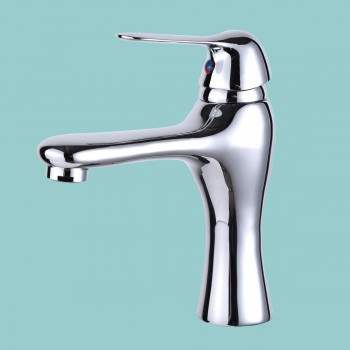"<PRE>Bathroom Single Hole Faucet Chrome Total Height 7inch Height, 4"" From Spout</PRE>zoom2"