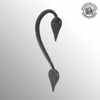 "<PRE>9inch Door Handle Pull Wrought Iron ""Inverted Spade"" Design</PRE>zoom2"