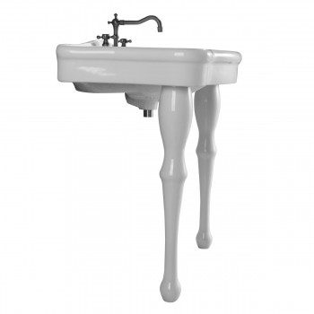 """<PRE>Console Sink Simple Elegance Spindle Leg Support Vitreous China 32.5inch W, 39"""" H</PRE>zoom4"""