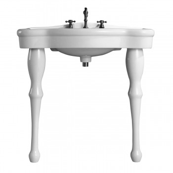 """<PRE>Console Sink Simple Elegance Spindle Leg Support Vitreous China 32.5inch W, 39"""" H</PRE>zoom5"""