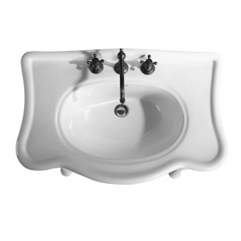"""<PRE>Console Sink Simple Elegance Spindle Leg Support Vitreous China 32.5inch W, 39"""" H</PRE>zoom6"""