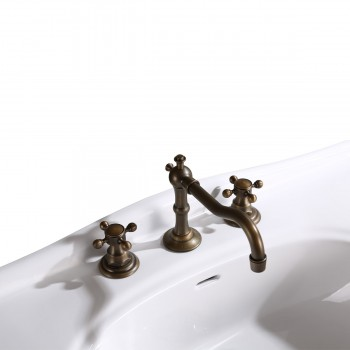"""<PRE>Console Sink Simple Elegance Spindle Leg Support Vitreous China 32.5inch W, 39"""" H</PRE>zoom7"""