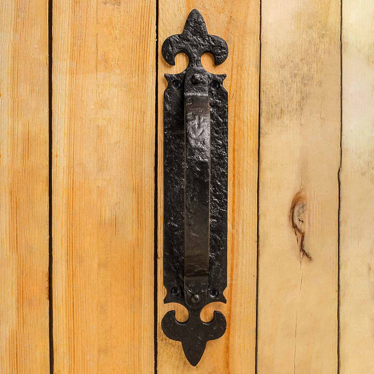 ... U003cPREu003e10 1/2 Inch Decorative Door Handle Black Iron Door Pull Handle ...