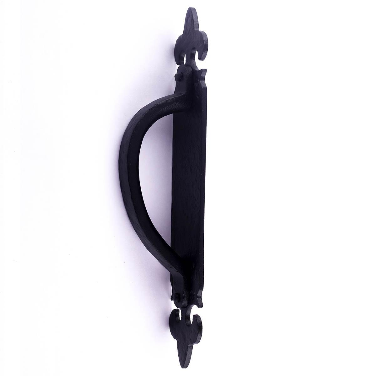 10 12 Inch Decorative Door Handle Black Iron Door Pull Handle Wrought Iron Door Pulls Black Door Pulls Antique Door Pulls For Cabinets