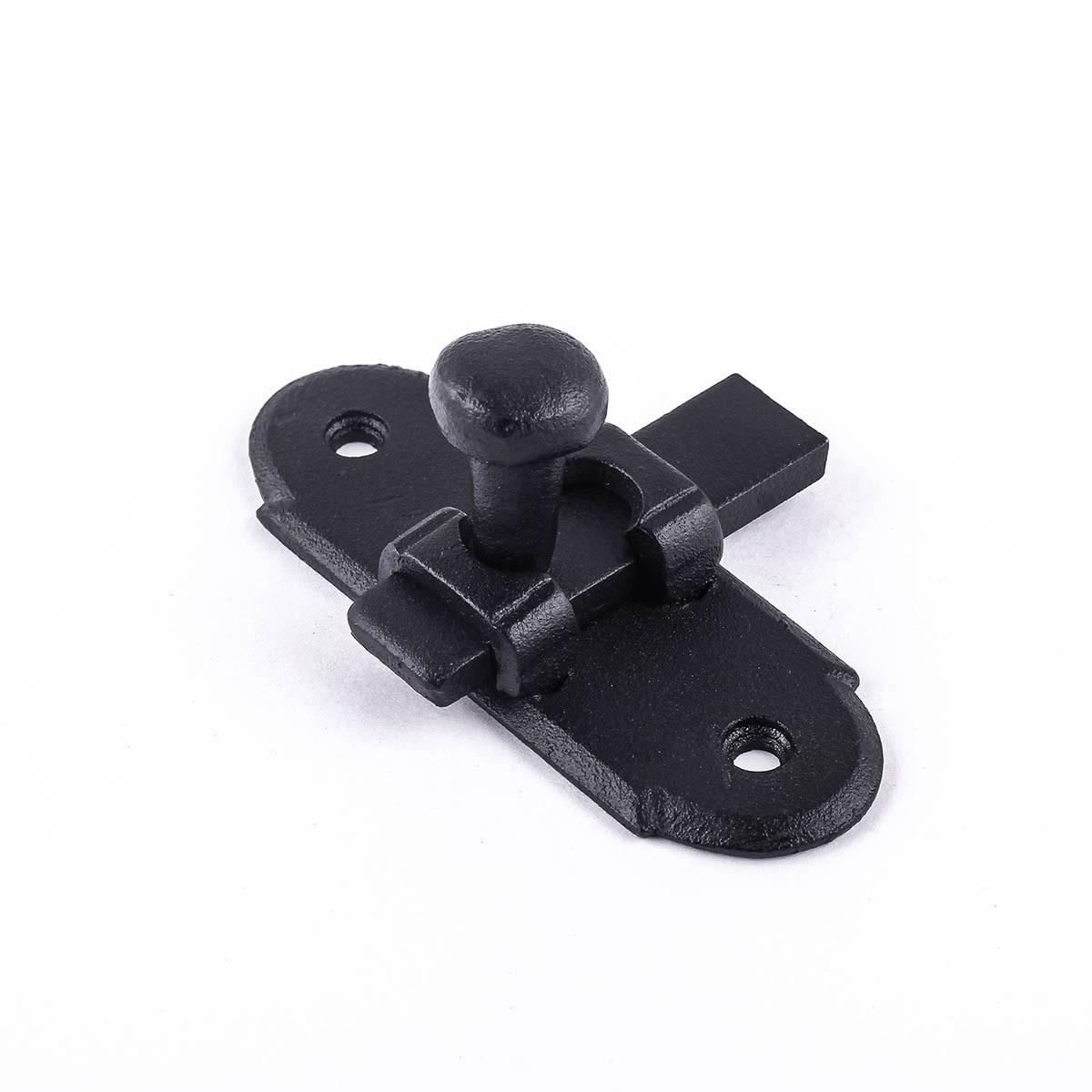 Black Classic Slide Style Wrought Iron Cabinet Latch 3H x 1.25W Cabinet Latch Wrought Iron Cabinet Latch Antique Black Cabinet Latch
