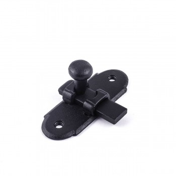 "<PRE>Classic Slide Style Cabinet Latch Wrought Iron 3inchH x 1.25""W </PRE>zoom4"