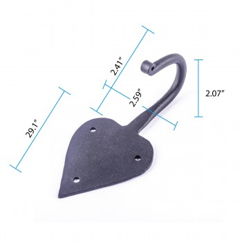 "spec-<PRE>Spade Coat Hook Cast Iron 5"" </PRE>"