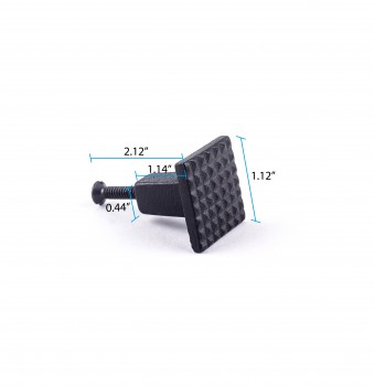 spec-<PRE>Square Grid Iron Cabinet Knob Black </PRE>