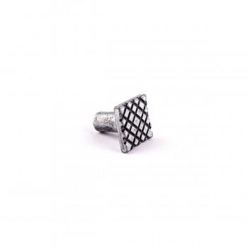 <PRE>Iron Cabinet Knob Pewter Finish Square Diamond Cabinet Hardware</PRE>