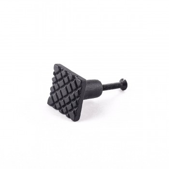 Square Diamond Grid Iron Cabinet Knob Black22170grid