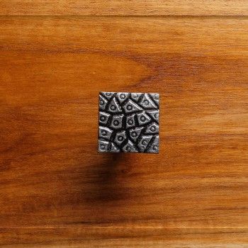 Square Cobble Stone Design Cabinet Hardware Iron Cabinet Knob Pewter Finish Square Cabinet Knobs Vintage Dresser Hardware Knobs Antique Cabinet Knobs