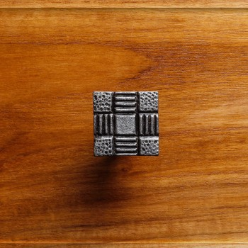 Iron Cabinet Knob And Pulls Square Aztec Pewter Finish Cabinet Hardware Square Cabinet Knobs Vintage Dresser Hardware Knobs Antique Cabinet Knobs