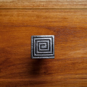 Square Maze Iron Cabinet Knob Pewter Finish Cabinet Hardware Square Cabinet Knobs Vintage Dresser Hardware Knobs Antique Cabinet Knobs