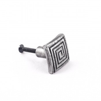 <PRE>Square Maze Iron Cabinet Knob Pewter Finish Cabinet Hardware</PRE>zoom4