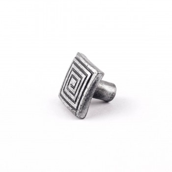 <PRE>Square Maze Iron Cabinet Knob Pewter Finish Cabinet Hardware</PRE>zoom7