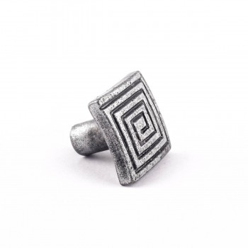 <PRE>Square Maze Iron Cabinet Knob Pewter Finish Cabinet Hardware</PRE>zoom8