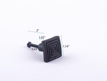 spec-<PRE>Square Maze Cabinet Hardware Iron Cabinet Knob Black </PRE>