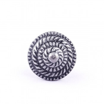 <PRE>Round Iron Cabinet Knob Pewter Finish Fibonacci Design Cabinet Hardware  </PRE>zoom5