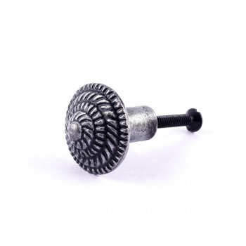<PRE>Round Iron Cabinet Knob Pewter Finish Fibonacci Design Cabinet Hardware  </PRE>zoom1