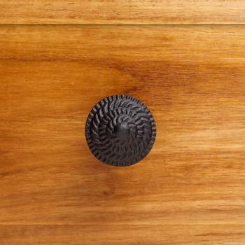 <PRE>Round Iron Cabinet Knob Black Fibonacci Design Cabinet Hardware</PRE>zoom2