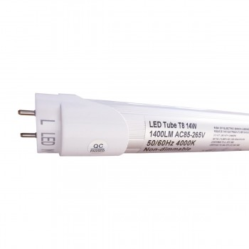 spec-<PRE>T8 Led Tube Light Fixture 4FT Replacement Lighting 14 Watt, 1400 Lumens 50/60Hz</PRE>