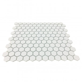 <PRE>Porcelain Mosaic Hexagon Glossy White Floor and Wall Tile 19.3 SQ FT</PRE>zoom3