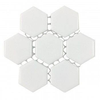 <PRE>Porcelain Mosaic Hexagon Glossy White Floor and Wall Tile 19.3 SQ FT</PRE>zoom4