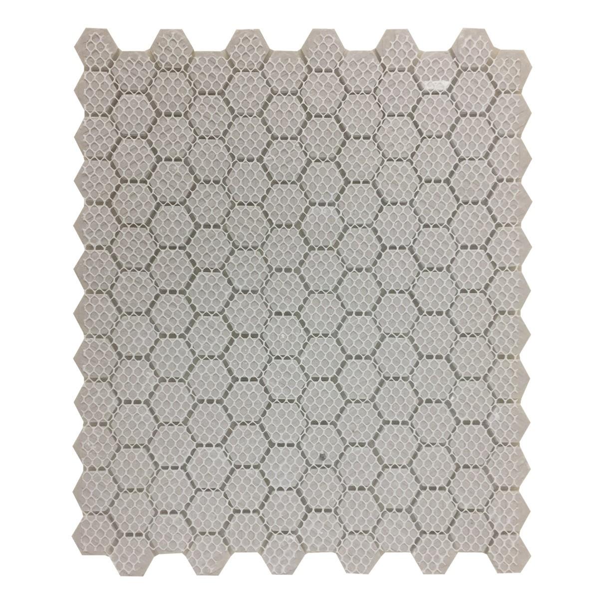 Matte White Hexagonal Tile Porcelain For Floors or Walls 19.3 SQ FT 23 Tiles Floor Tiles Mosaic Wall Tiles Mosaic Wall Tiles Ceramic
