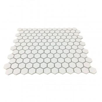 <PRE>Matte White Hexagonal Tile Porcelain For Floors or Walls 19.3 SQ FT 23 Tiles </PRE>zoom3