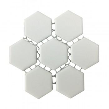 <PRE>Matte White Hexagonal Tile Porcelain For Floors or Walls 19.3 SQ FT 23 Tiles </PRE>zoom4