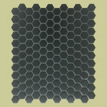 <PRE>Porcelain Mosaic Hexagon Matte Black Floor and Wall Tile 19.3 SQ FT</PRE>zoom2