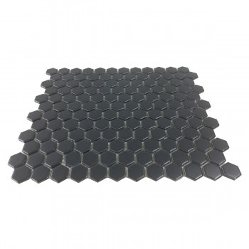 <PRE>Porcelain Mosaic Hexagon Matte Black Floor and Wall Tile 19.3 SQ FT</PRE>zoom3