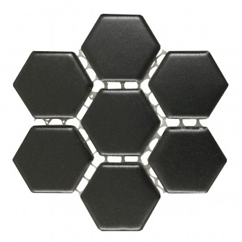 <PRE>Porcelain Mosaic Hexagon Matte Black Floor and Wall Tile 19.3 SQ FT</PRE>zoom4