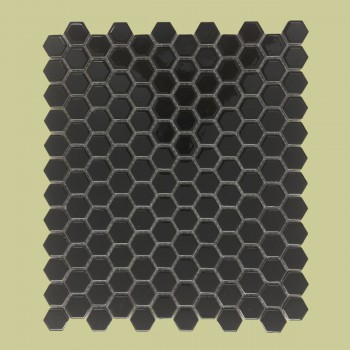 <PRE>Porcelain Mosaic Hexagon Glossy Black Floor and Wall Tile 19.3 SQ FT</PRE>zoom2
