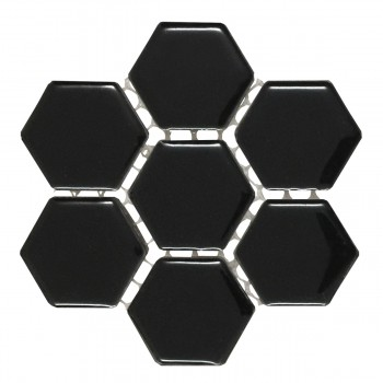 <PRE>Porcelain Mosaic Hexagon Glossy Black Floor and Wall Tile 19.3 SQ FT</PRE>zoom4