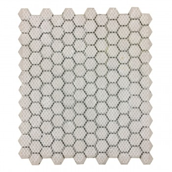 <PRE>Porcelain Mosaic Hexagon Glossy Black Floor and Wall Tile 19.3 SQ FT</PRE>zoom5