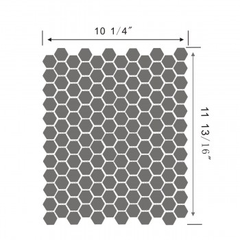 spec-<PRE>Porcelain Mosaic Hexagon Glossy Black Floor and Wall Tile 19.3 SQ FT</PRE>
