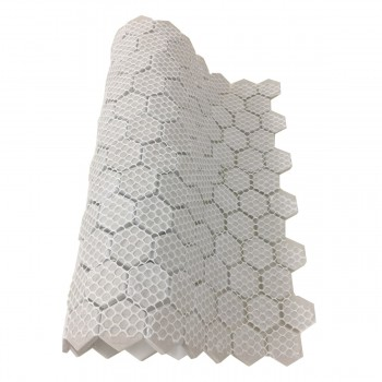 Mosaic Hexagon Matte White and Black Tile 23 Sheets 10.25 x 11.8 19.3 SQFT Porcelain Mosaic Hexagon Glossy Black Floor Hexagon Hexagonal Wall Backsplash Tile Sheet White and Black Floor Tile