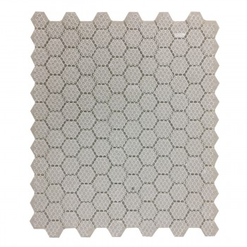 "<PRE>Black and White Mosaic Hexagon Floor Wall Tile 23 Sheet 10.25inch x 11.8"" 19.3 SQFT</PRE>zoom5"