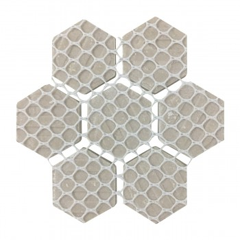 "<PRE>Black and White Mosaic Hexagon Floor Wall Tile 23 Sheet 10.25inch x 11.8"" 19.3 SQFT</PRE>zoom7"