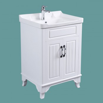 <PRE>34 5/8inch H X 24 1/4&quot; W White Bathroom Vanity Cabinet With Top Wall Mount Sink</PRE>zoom2