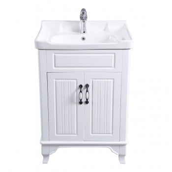 <PRE>34 5/8inch H X 24 1/4&quot; W White Bathroom Vanity Cabinet With Top Wall Mount Sink</PRE>zoom3