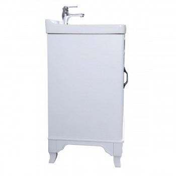 <PRE>34 5/8inch H X 24 1/4&quot; W White Bathroom Vanity Cabinet With Top Wall Mount Sink</PRE>zoom4