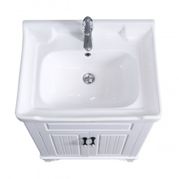<PRE>34 5/8inch H X 24 1/4&quot; W White Bathroom Vanity Cabinet With Top Wall Mount Sink</PRE>zoom5