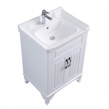 <PRE>34 5/8inch H X 24 1/4&quot; W White Bathroom Vanity Cabinet With Top Wall Mount Sink</PRE>zoom6