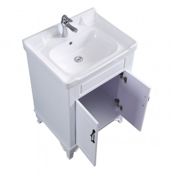 <PRE>34 5/8inch H X 24 1/4&quot; W White Bathroom Vanity Cabinet With Top Wall Mount Sink</PRE>zoom7