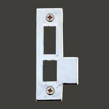 Door Latches Bright Chrome Decorative Door Latch Strike Strike Plate Lock Chrome Strike Plate Two Hole Strike Plate